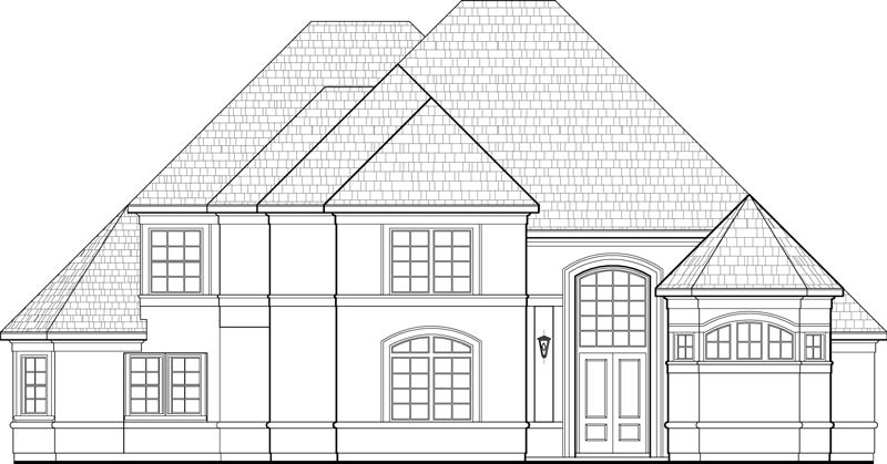 Two Story House Plan C9252