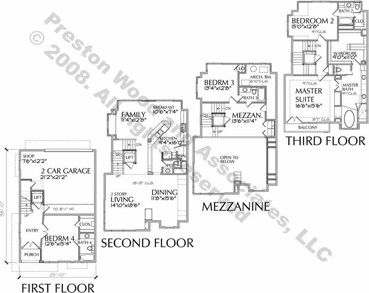 Townhouse Plan aD0163 A
