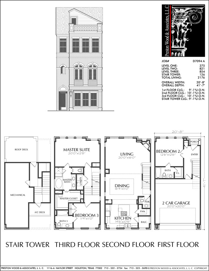 Townhouse Plan D7094 A