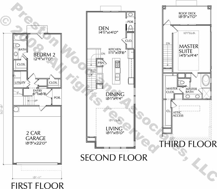 Duplex Townhouse Plan D5153 B2 & B