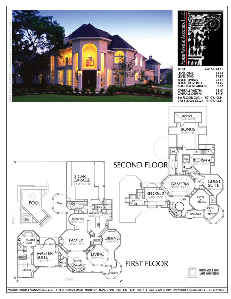 Two Story House Plan aC4167