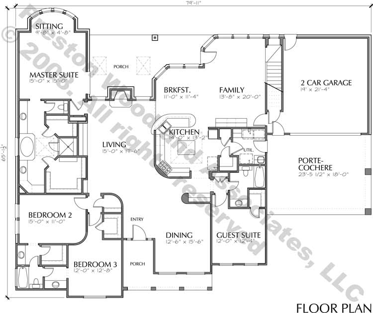 One Story Home Plan C5237