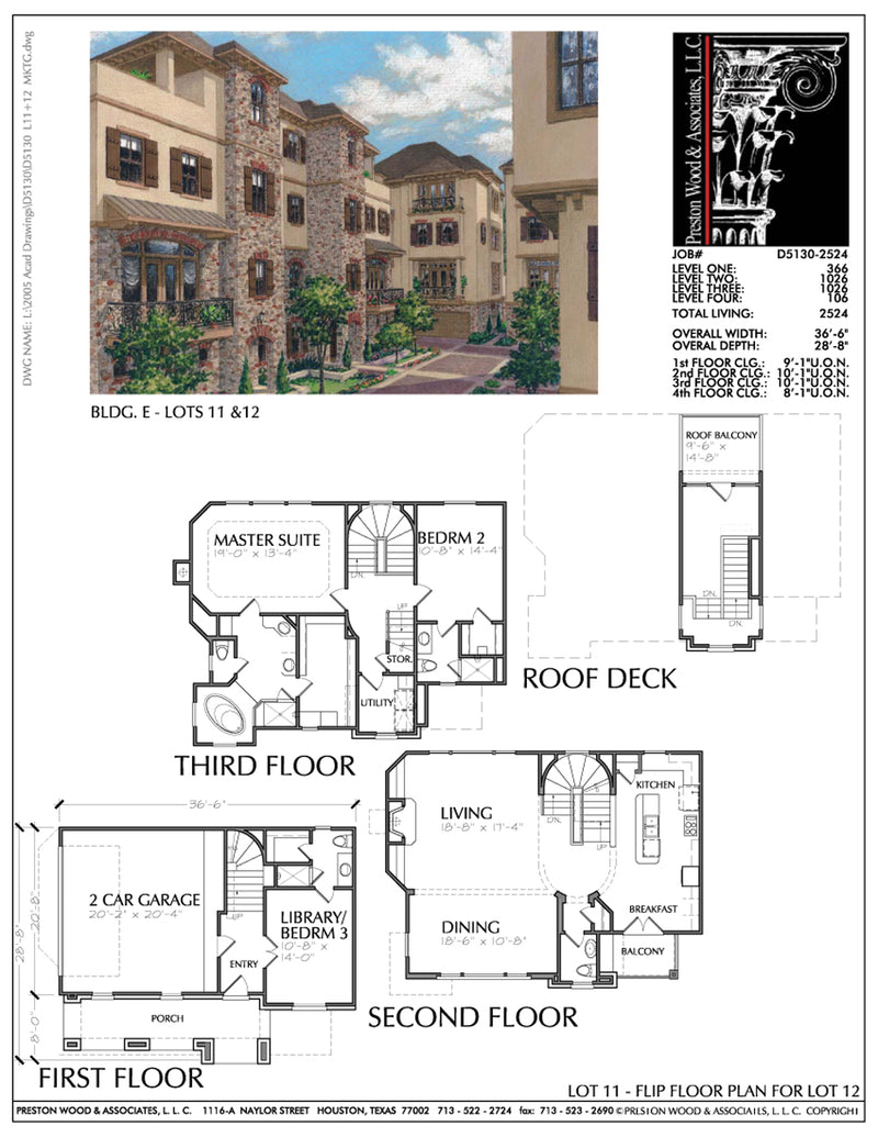 Duplex Townhouse Plan D5130 E11 & E12