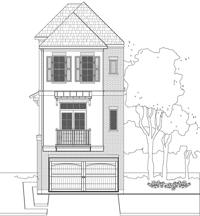 Townhouse Plan E1155 C1.2