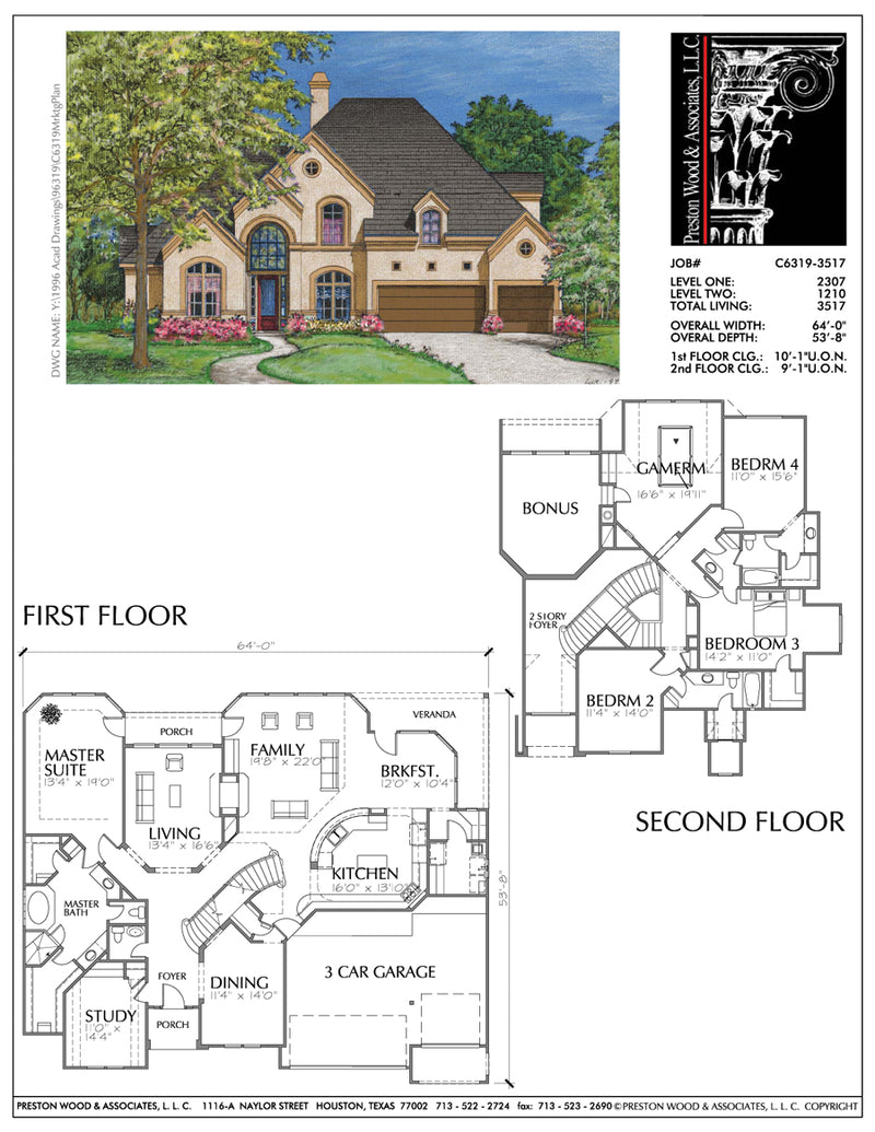 Country Style Home Plan C6319
