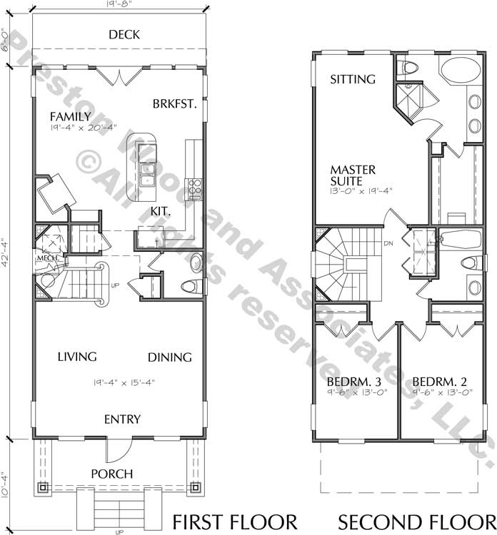 Narrow Home Plan aC9062