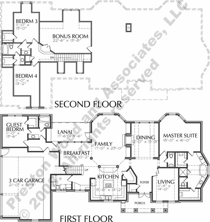 Two Story House Plan C9059