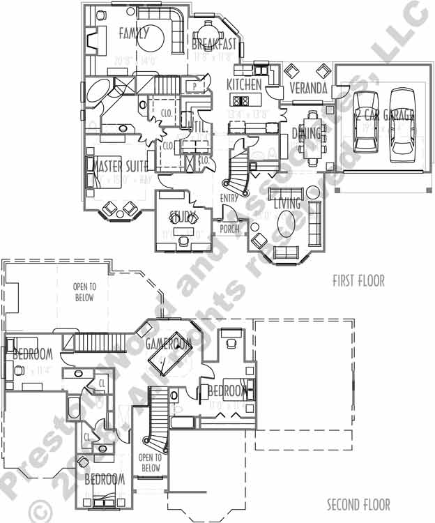 Two Story House Plan C6035