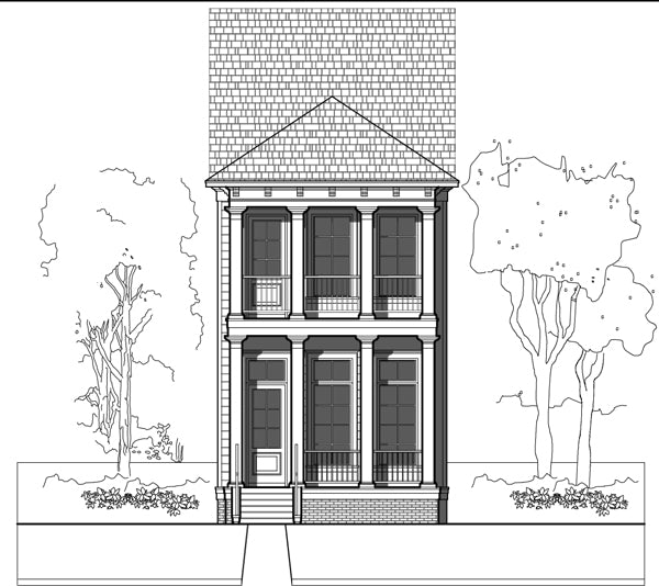 Townhouse Plan E3017 A1.1