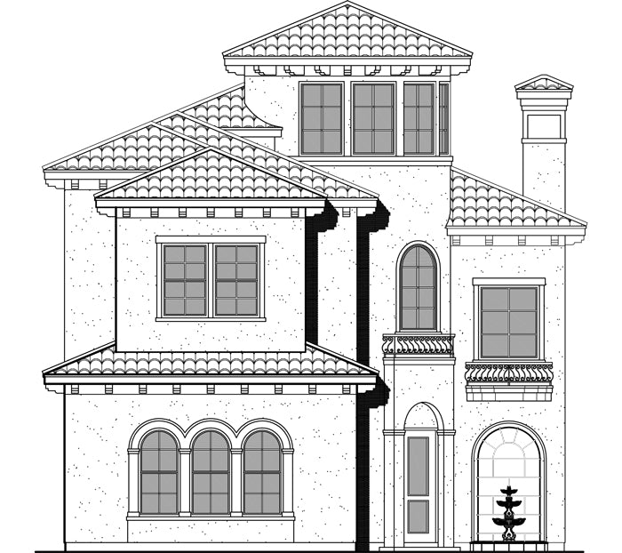 Two Story House Plan D6134