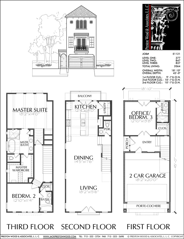 Townhouse Plan E1121