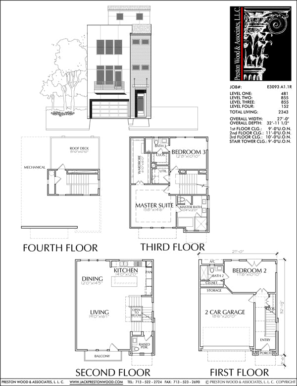 Townhouse Plan E3093 A1.1