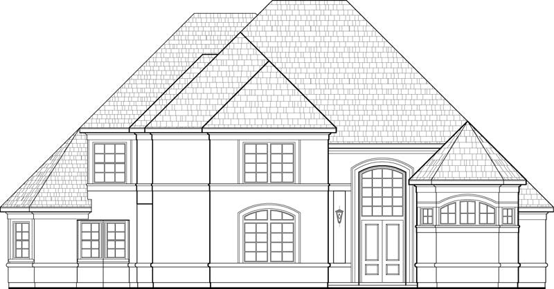 Two Story House Plan D1045