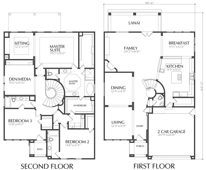 Two Story House Plan D5193