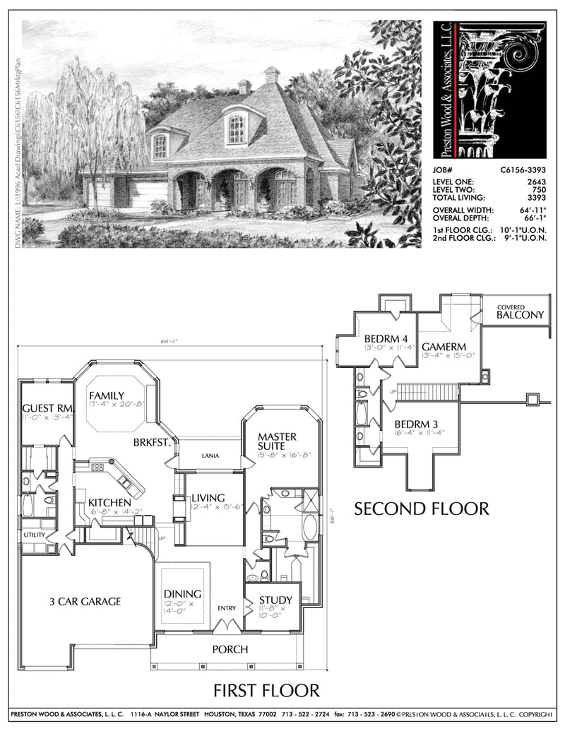 Two Story House Plan C6156