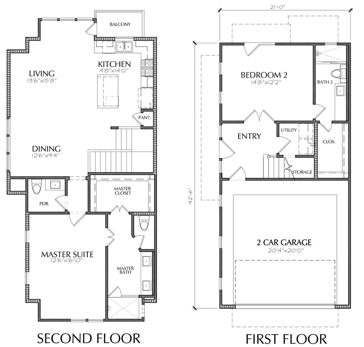 Townhouse Plan E2136 B1.1