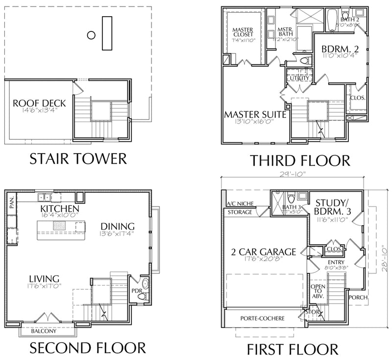 Townhouse Plan E5172 A1.1