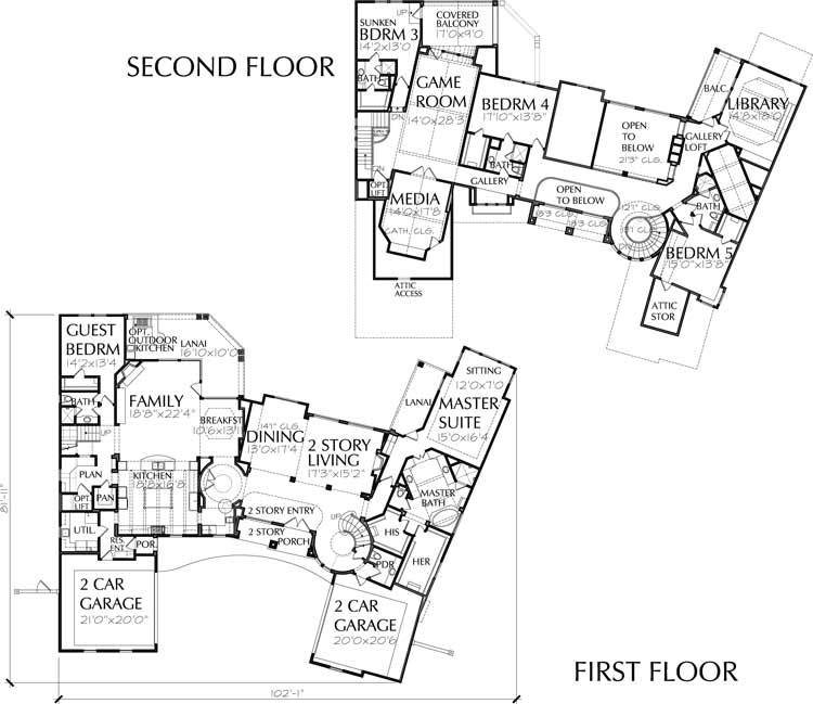 Two Story House Plan D5032