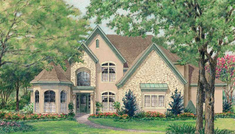 Two Story House Plan D2071