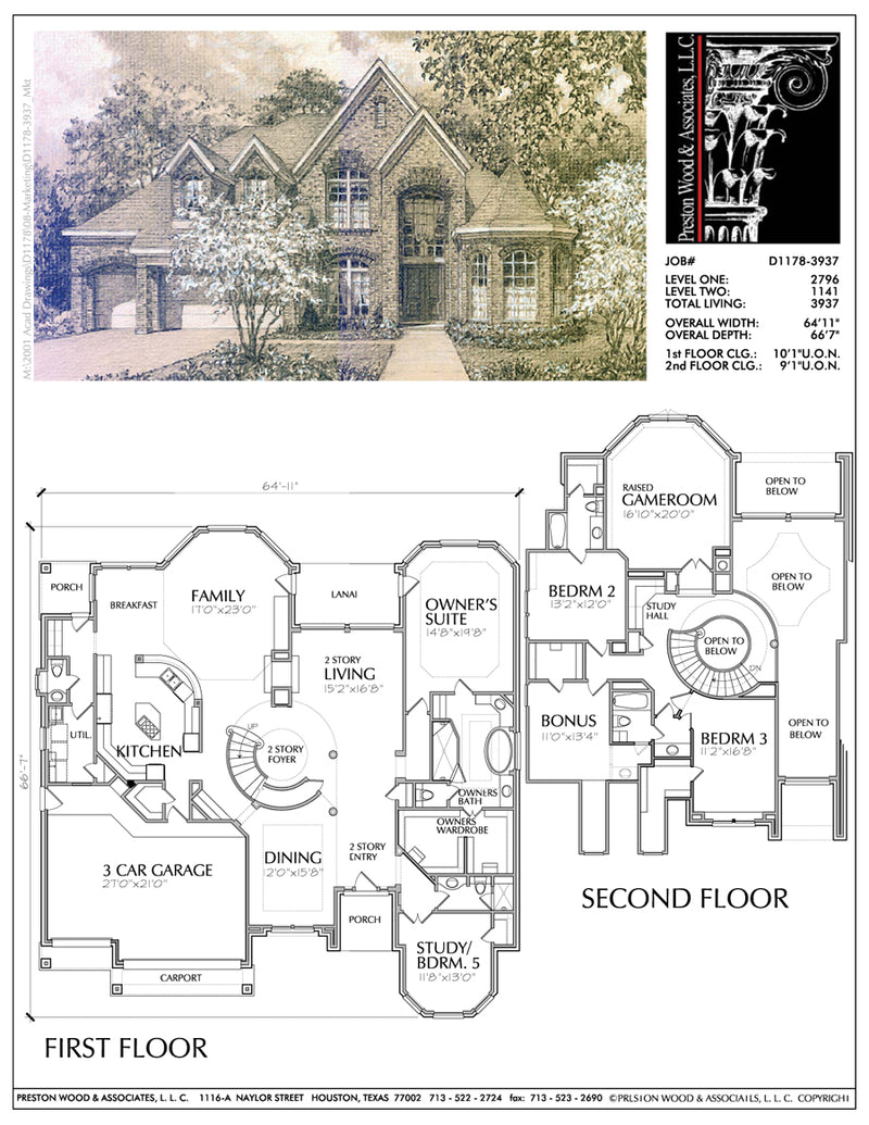 Traditional Style House Plan D1178