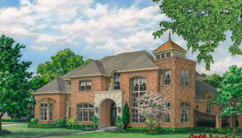 Two Story House Plan D6258