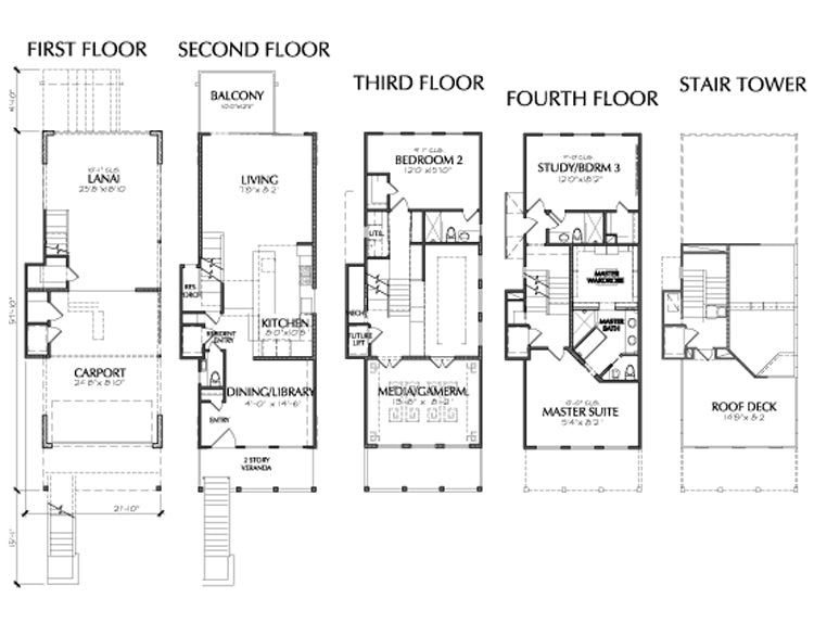 Townhouse Plan E1005 A1