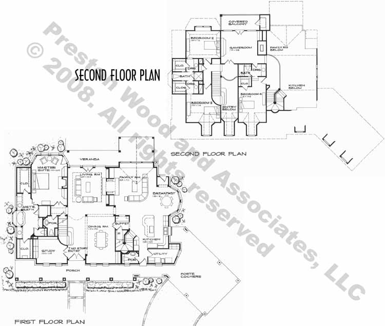 Colonial Home Plan C2181