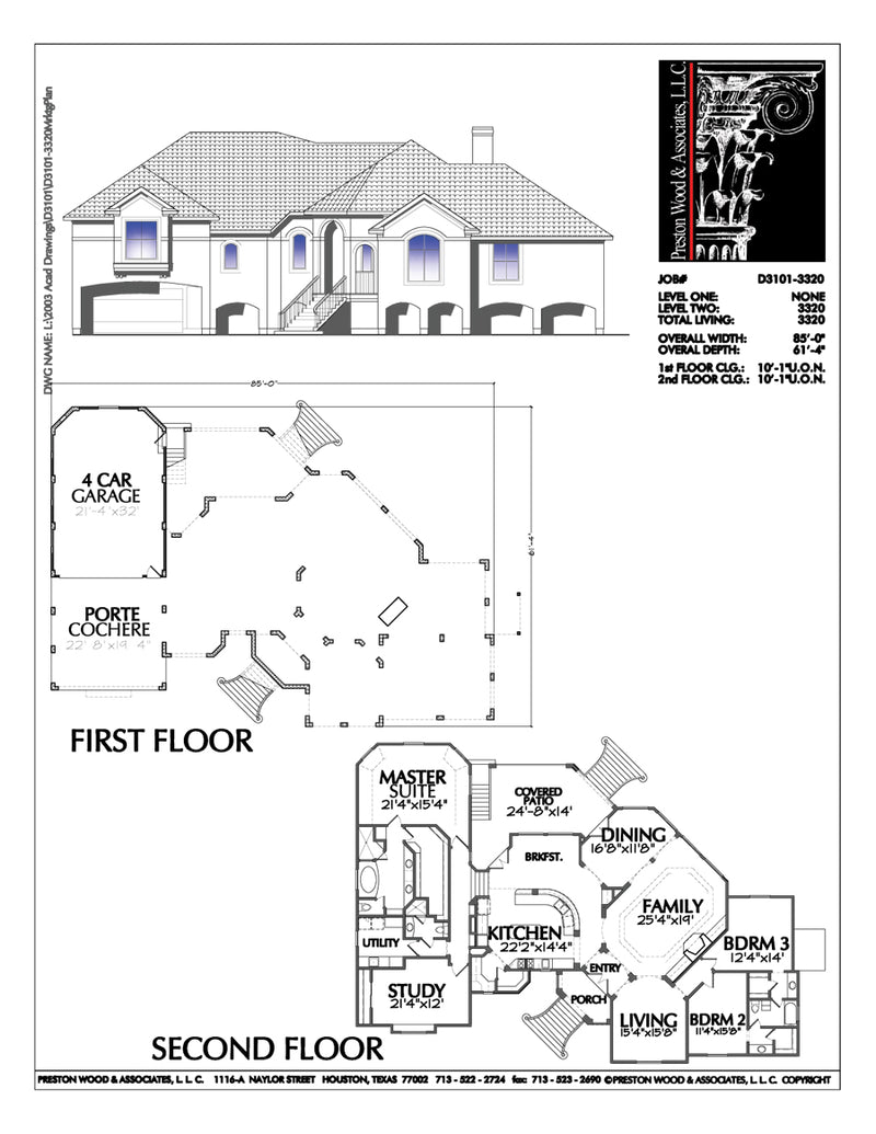 Two Story House Plan D3101