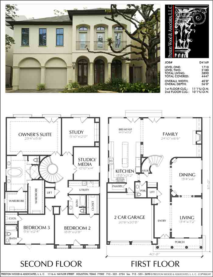 Two Story Home Plan aD4169