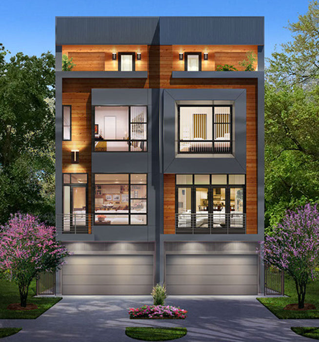 Tiny Home Designs: Narrow Townhome Plans Online, Brownstone Style Homes