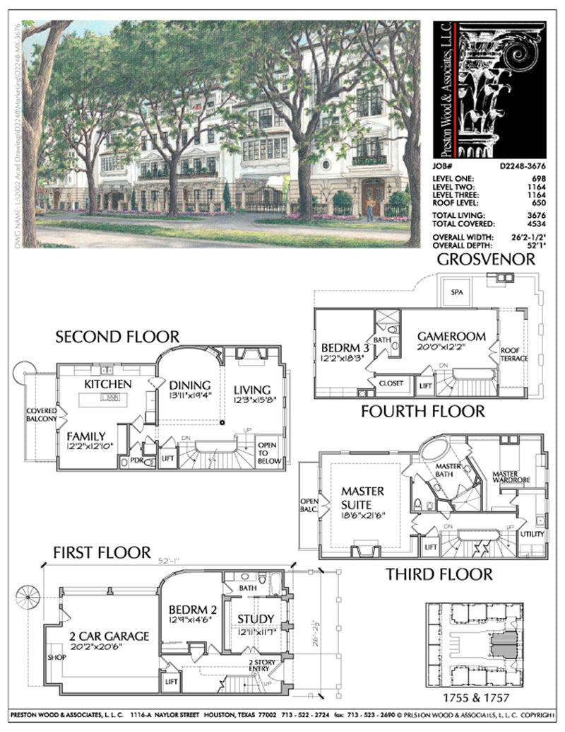 Duplex Townhouse Plan D2248 Grosvenor