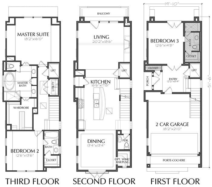 Townhouse Plan E0108 C1.1