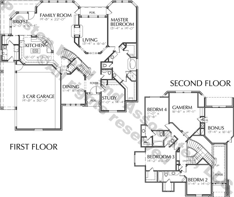 Two Story Home Plan bD0189