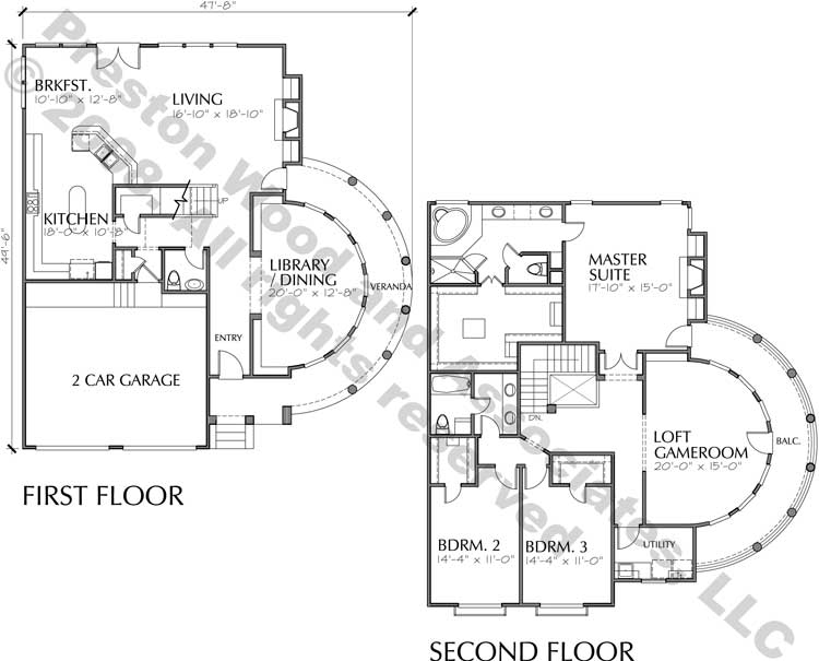 Patio Home Plan C8039