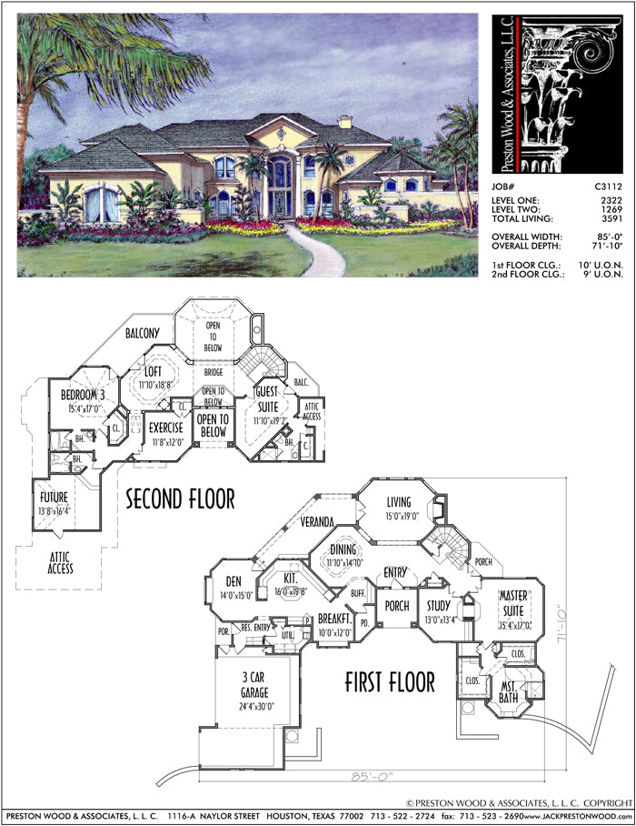 Two Story House Plan C3112
