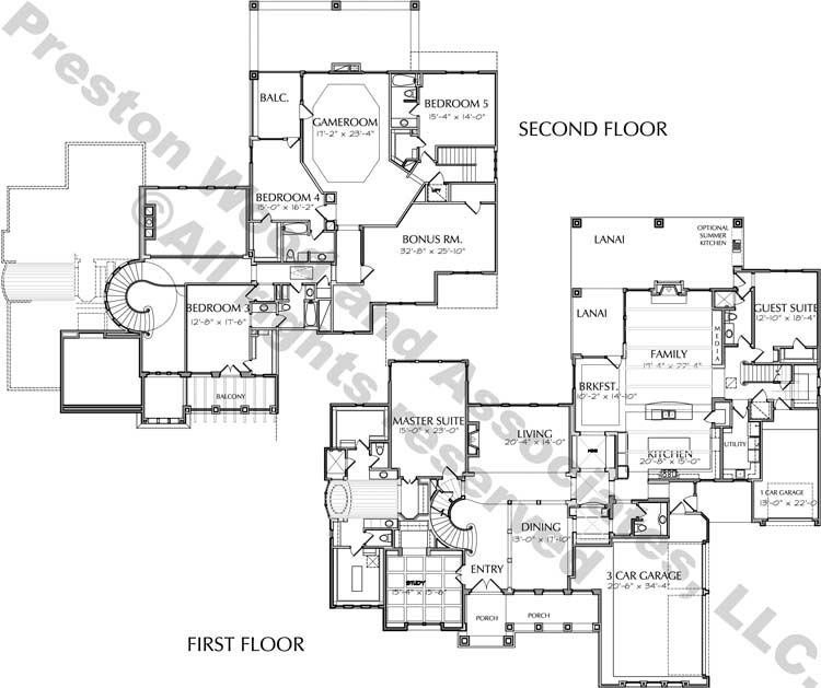 Two Story House Plan D6231