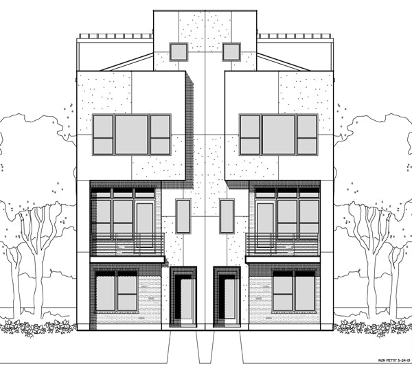Duplex Townhouse Plan E2141