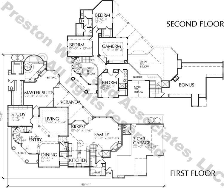 Eclectic Style Home Plan C6002