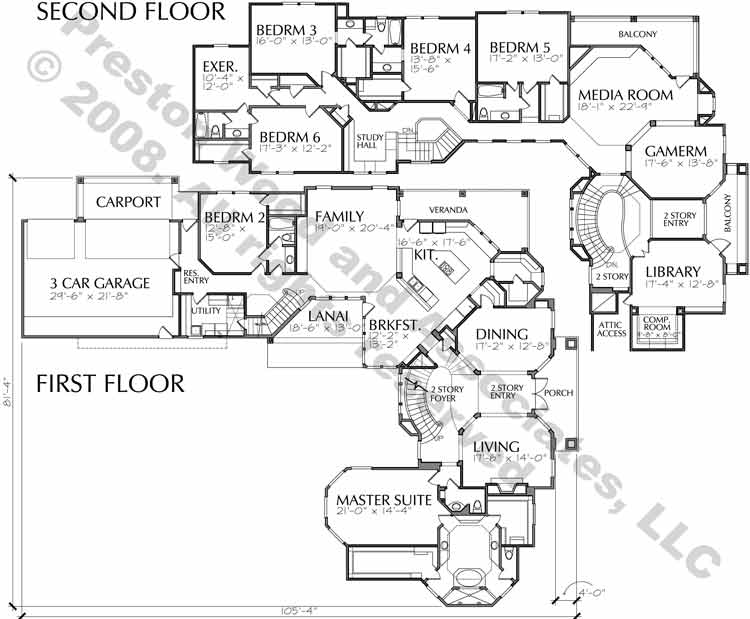 Two Story Home Plan C8282