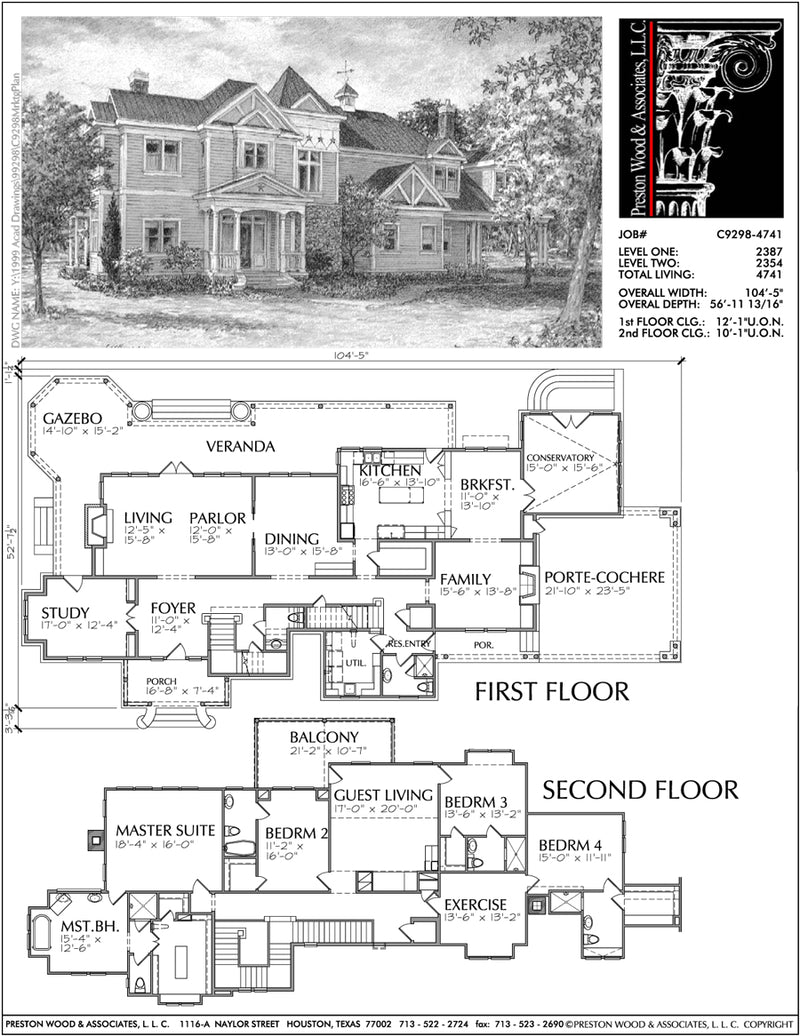 Two Story Home Plan C9298