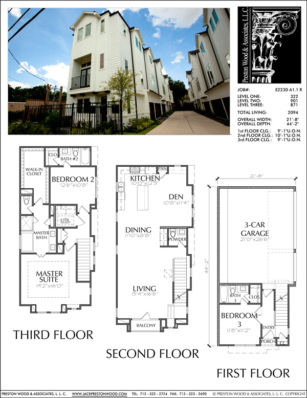 Townhouse Plan E2230 A1.1