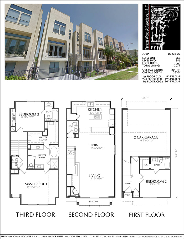 Townhouse Plan D3235 u2