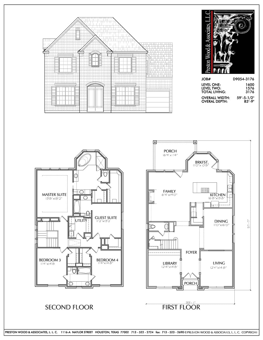 Unique Family House Plans, Floor Plan Layout for Two Story Homes, Deve –  Preston Wood & Associates | Two Story House Wiring Diagrams |  | Preston Wood & Associates
