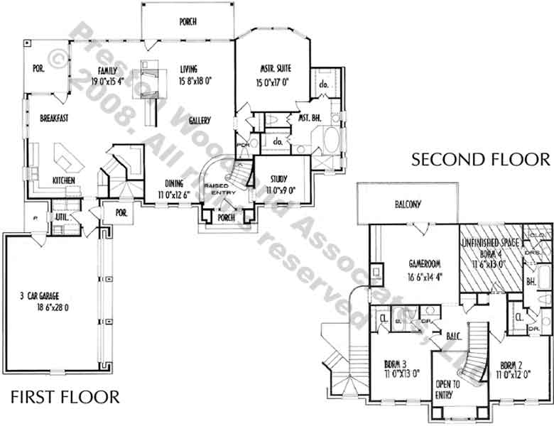 Two Story House Plan C6081