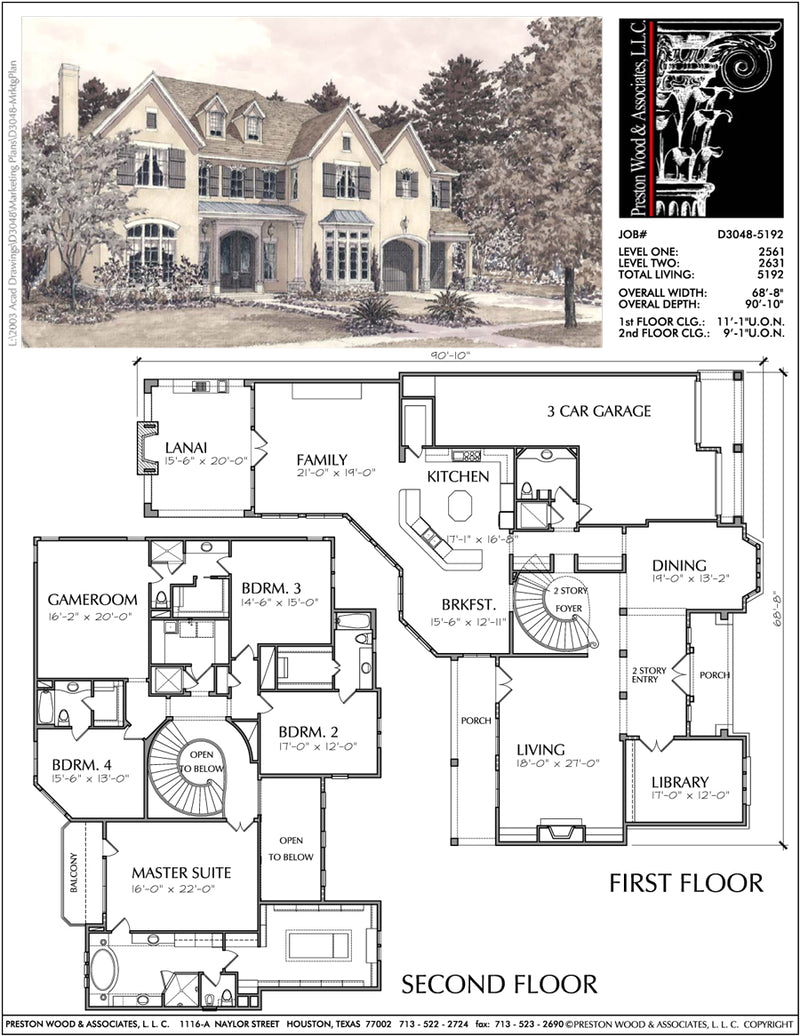 Two Story Home Plan aD3048