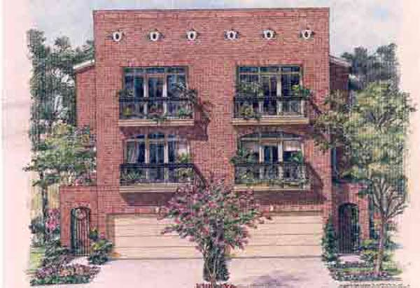 Duplex Townhome Plan C9052