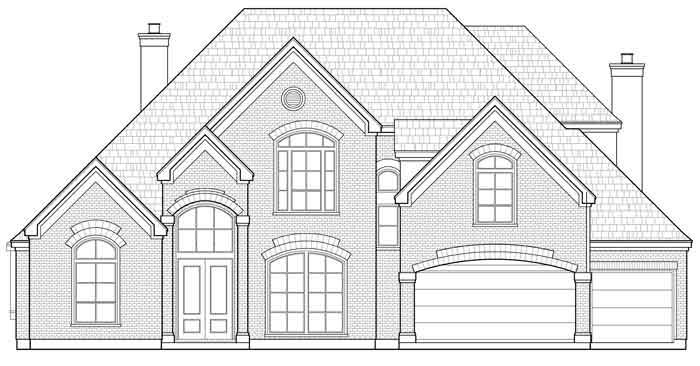 Two Story House Plan D0283