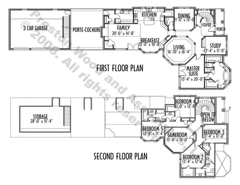 Traditional Style House Plan C5128