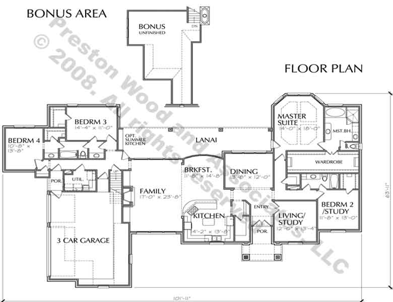 One Story House Plan C9060