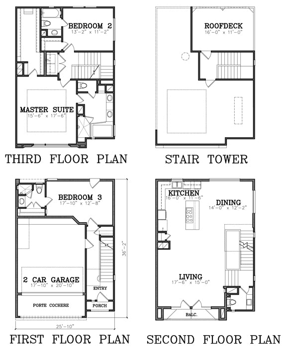 Townhouse Plan E4135-025